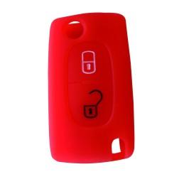 Housse silicone pour coque Peugeot-Citroën Rouge